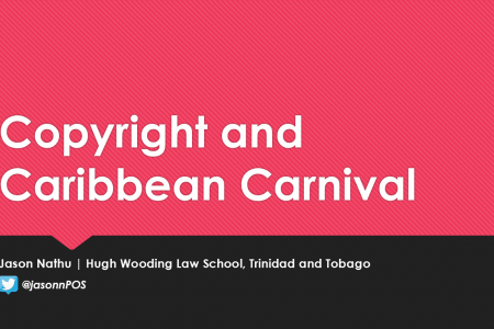 Presenting on Copyright and Caribbean Carnival